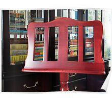 The Beauty of Wood - Music Stand and Books Poster
