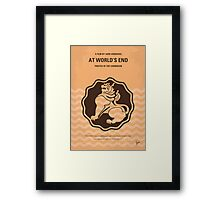 No494-3 My Pirates of the Caribbean III minimal movie poster Framed Print