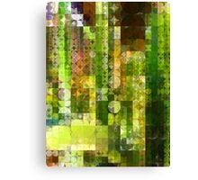 Cactus Garden Abstract Circles 2 Canvas Print