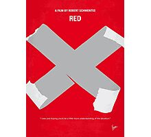 No495 My RED minimal movie poster Photographic Print