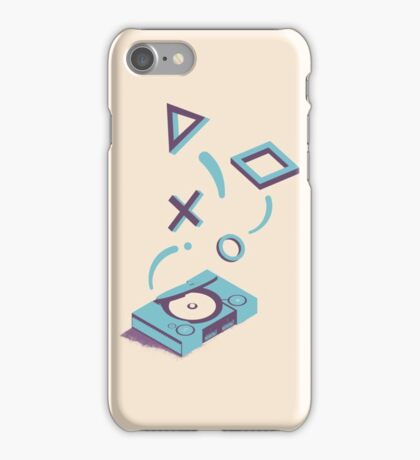 ElectroVideo Playstation (Blue) iPhone Case/Skin