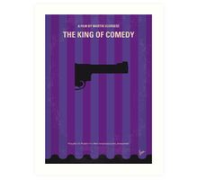 No496 My The King of Comedy minimal movie poster Art Print