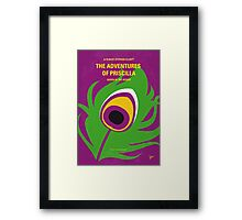 No498 My Priscilla Queen of the Desert minimal movie poster Framed Print