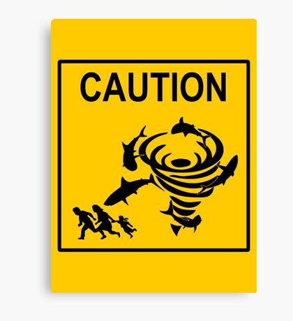 Sharknado Crossing Canvas Print