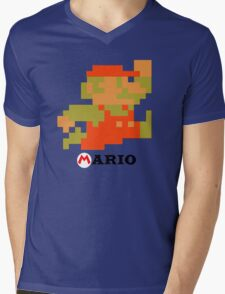 Super Mario Mens V-Neck T-Shirt