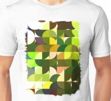 Cactus Garden Abstract Circles 1 Unisex T-Shirt