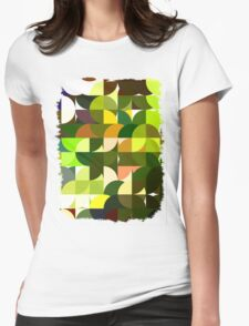 Cactus Garden Abstract Circles 1 Womens Fitted T-Shirt