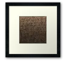 Antique Brass Camo Abstract Low Polygon Background Framed Print