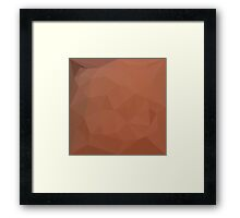Burnt Orange Abstract Low Polygon Background Framed Print