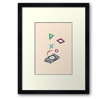 ElectroVideo Playstation (Grey) Framed Print