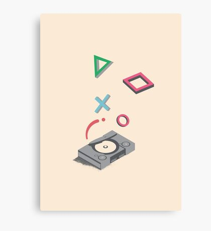 ElectroVideo Playstation (Grey) Canvas Print