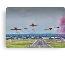 Red Arrows Take Off HDR - Farnborough 2014 Canvas Print