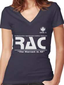Reclamation Agent - Level 5 Women's Fitted V-Neck T-Shirt