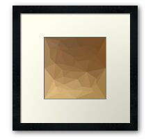 Dark Tangerine Abstract Low Polygon Background Framed Print