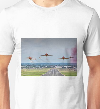 Red Arrows Take Off HDR - Farnborough 2014 Unisex T-Shirt