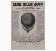 0048 ballooning Le grand ballon captif a vapeur de la cour des Tuileries 1879 M Henry Giffard ingénieur constructeur Yves Barret sc One Piece - Short Sleeve