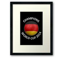 Germany - World Cup Champions 2014 - German Flag Football Soccer Ball Framed Print