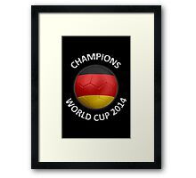 Germany - World Cup Champions 2014 - German Flag Football Soccer Ball Framed Print