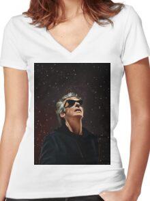 Doctor Funkenstein Women's Fitted V-Neck T-Shirt