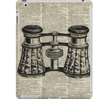Antique Binoculars Engraving ,Dictionary Page Art  iPad Case/Skin