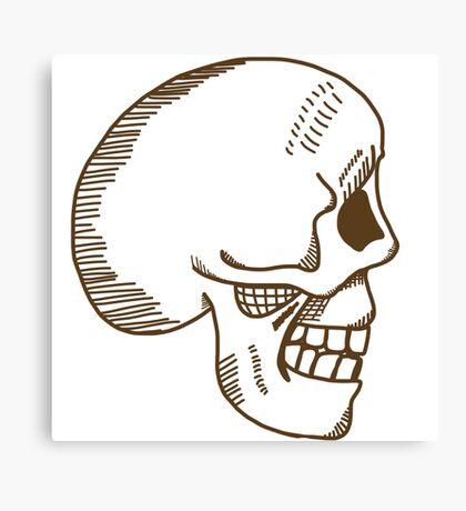 Hamlet skull in brown Canvas Print