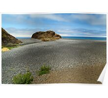 Black Sand Beach On The Lost Coast Poster