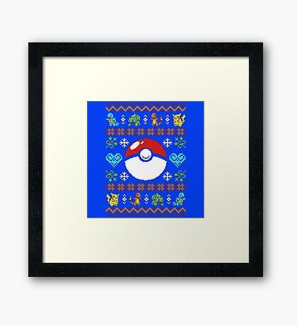 Knitted Poke Framed Print
