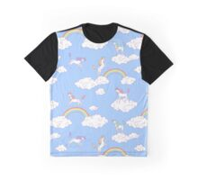 Unicorns at the blue sky Graphic T-Shirt