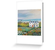 Beach View Cottages Greeting Card