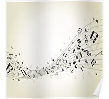 Abstract music4 Poster