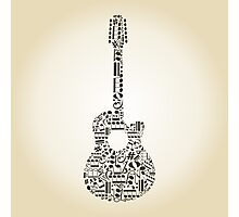 Guitar from notes Photographic Print