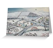 Winter Hills Greeting Card