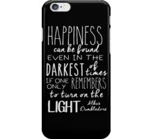 Turn On The Light #White Version iPhone Case/Skin