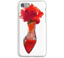 Watercolour Red High Heel iPhone Case/Skin