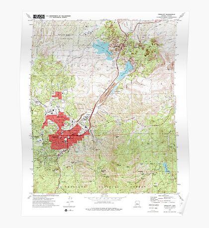 USGS TOPO Map Arizona AZ Prescott 312985 1973 24000 Poster