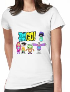 Teen Titans Go! Christmas Womens Fitted T-Shirt