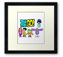 Teen Titans Go! Christmas Framed Print
