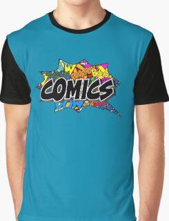 -COMICS- Comics Bubble Graphic T-Shirt