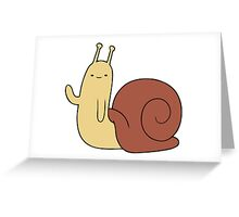 Snail cartoon Greeting Card