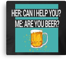 Help Beer Canvas Print