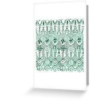 Owl Feathers in Mint Greeting Card