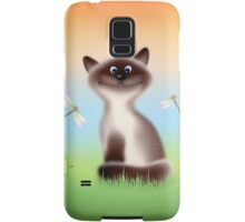 Sly Himalayan Cat & Butterflies Samsung Galaxy Case/Skin