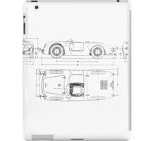 Vintage Spyder Blueprint iPad Case/Skin