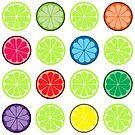 Retro fruit by IamJane--