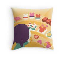 Disneyland Confectionary Throw Pillow