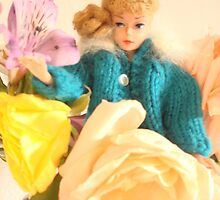 Vintage Barbie with Flowers by JennCaen