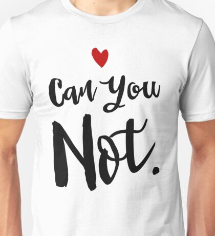 Can You NOT Sassy Introvert Unisex T-Shirt