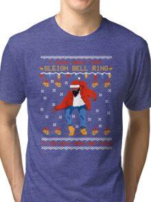 Drake Hotline Bling Ugly Christmas Tri-blend T-Shirt