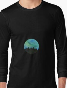 The northern lights watercolor Long Sleeve T-Shirt