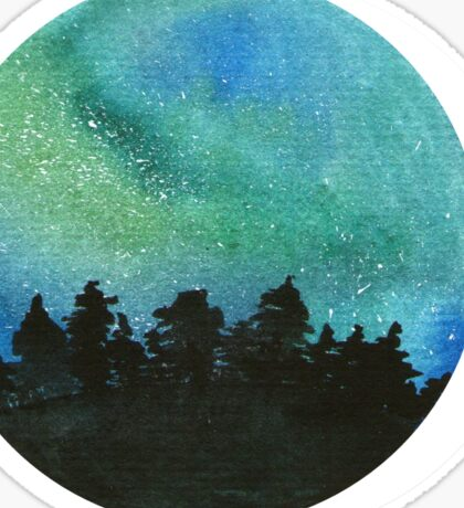 The northern lights watercolor Sticker